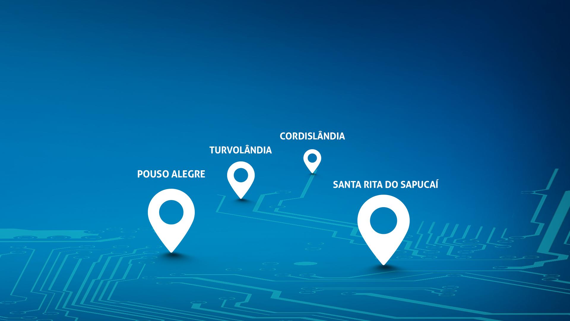 Mapa de abrangência